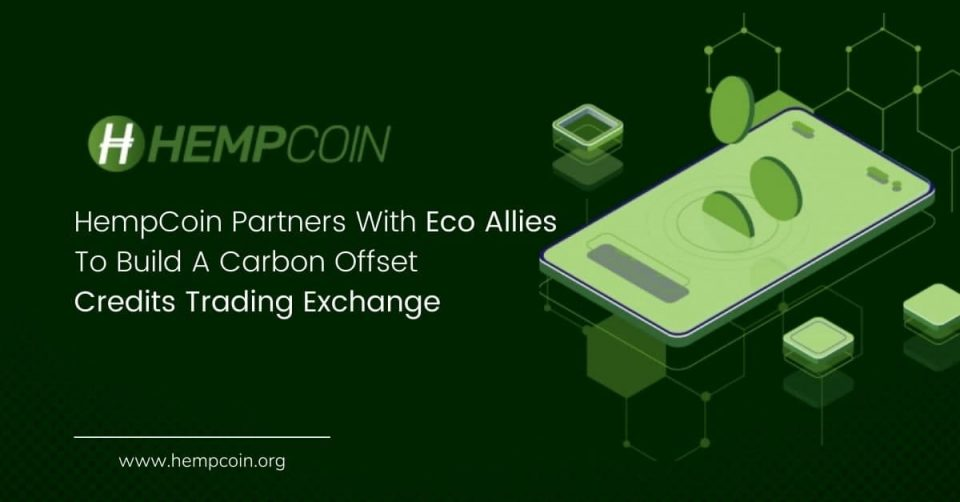 HempCoin Partners With Eco Allies To Build A Carbon Offset Credits Trading Exchange